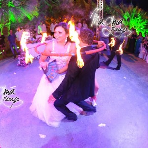 fire-show-cake-bride-groom-magma-group