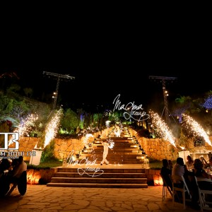 magma-group-fire-volcano-wedding-entrance
