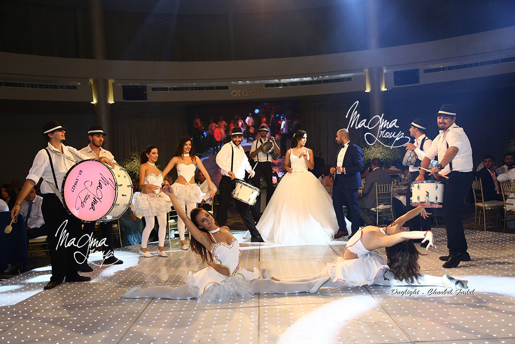 magma-group-wedding-lebanese-best-entrance